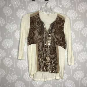 Anthropologie TINY Blouse Size Small Ivory